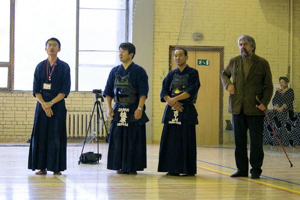Семинар по кендо под руководством Uehara Sensei и Yoshiyama-Sensei