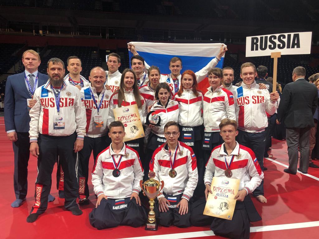 Российская команда на Чемпионате Европы по кендо в Белграде